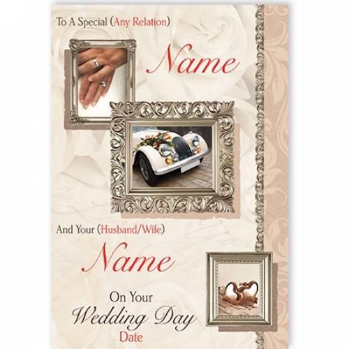 To A Special Car Wedding Card