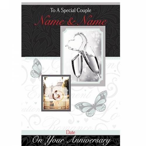 To A Special Couple Name And Name On Your Anniversary Date Card