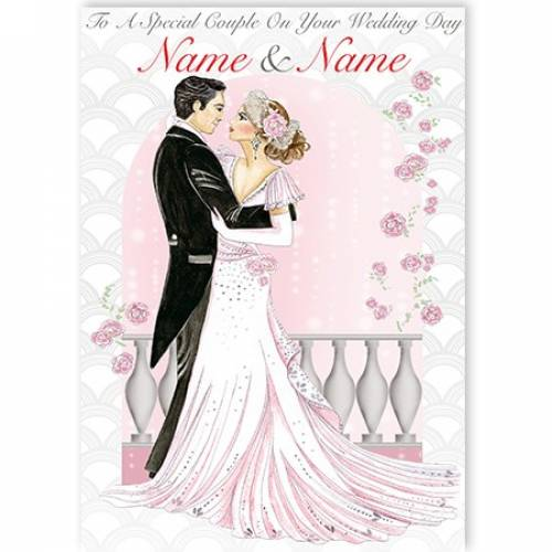 To A Special Couple On Your Wedding Day Roses Card