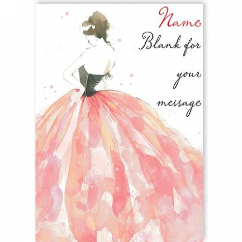 Dress Blank For Your Message Card