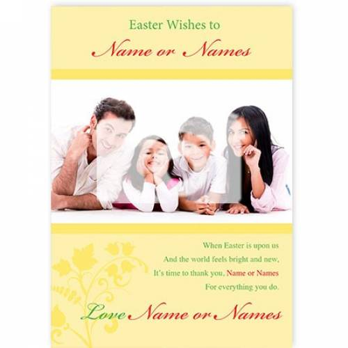 Easter Wishes To Name When Easter Is Upon Us Card