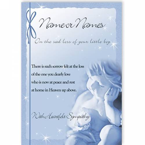 Blue Angel On The Loss Of Your Little Boy Card