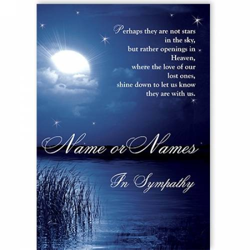 Moonlight In Sympathy Card