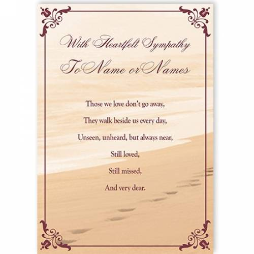With Heartfelt Sympathy Sand Card