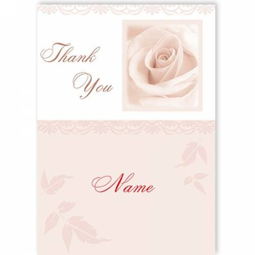 White Rose Thank You Card