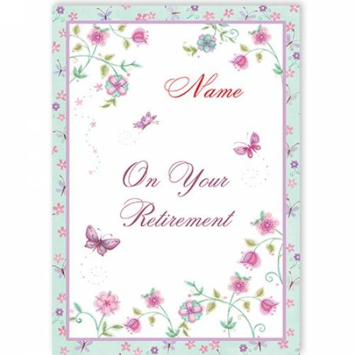 Butterflies On Your Retirement Card
