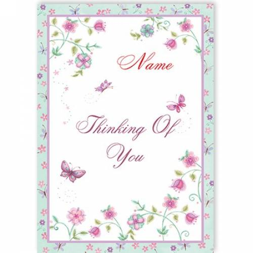 Butterflies Thinking Of You Card
