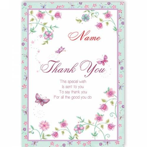 Butterflies Thank You This Special Wish Card