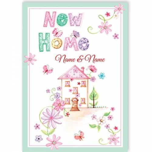New Home Name And Name House Card