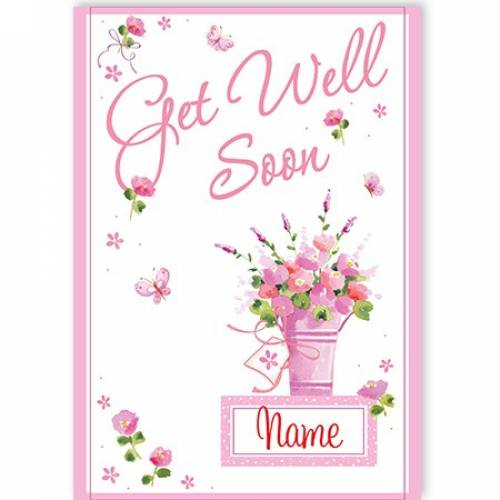 Get Well Soon Bunch Of Flowers Card