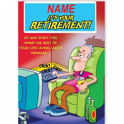 Funny Retirement Male Card