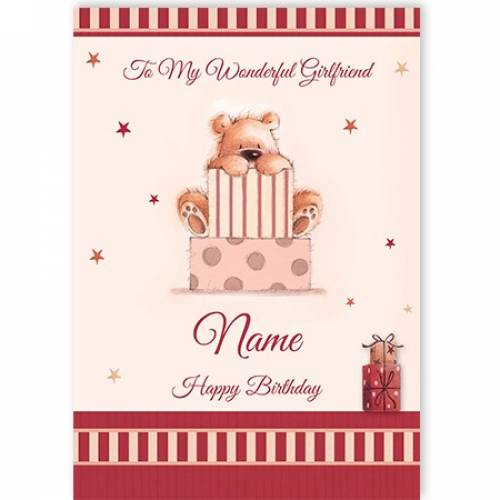 Girlfriend Bear Birthday Card