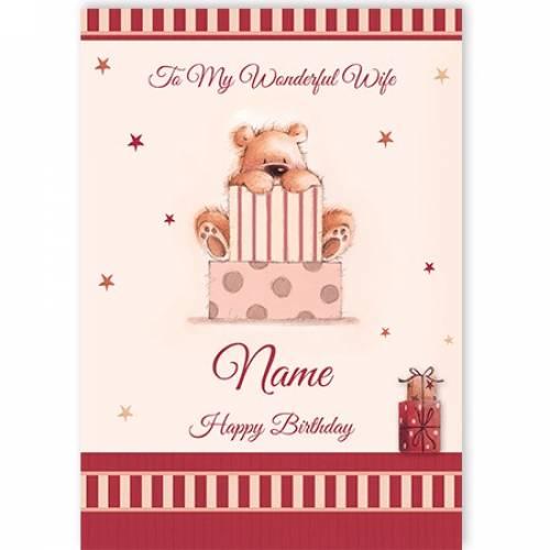 Wife Bear Birthday Card