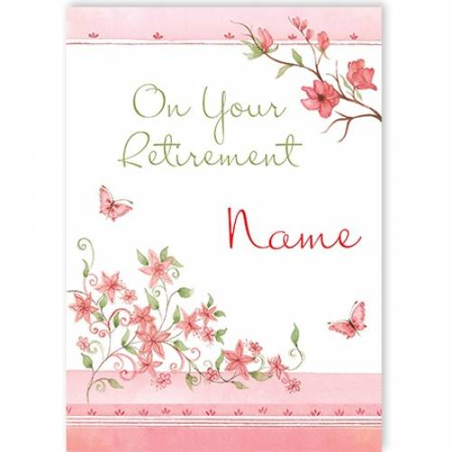 Retirement Female Flowers Card