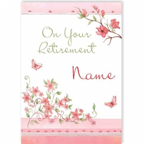 Retirement Female Flowers Card