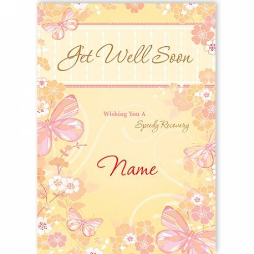 Get Well Soon Speedy Recovery Female Card