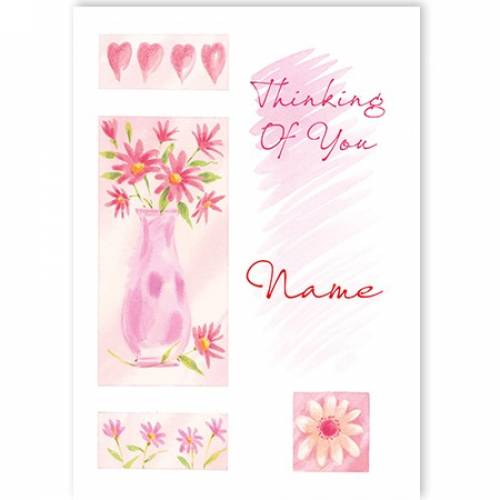 Thinking Of You Vase Of Flowers Card