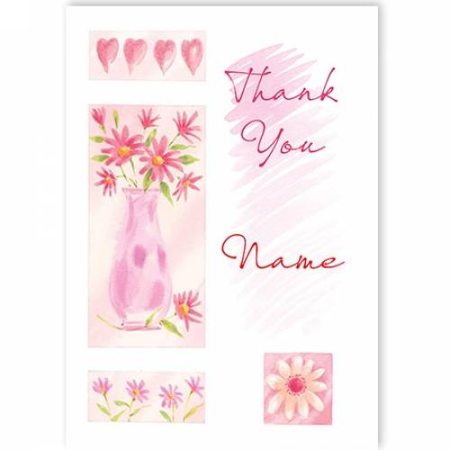 Thank You Vase Of Flowers Card