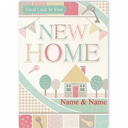New Home Good Luck Keys Card