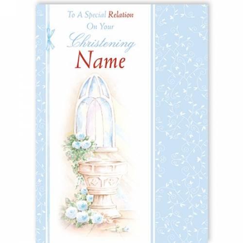 Christening Relation Card