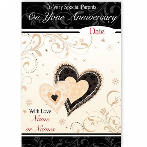 Parents Anniversary Heart Card