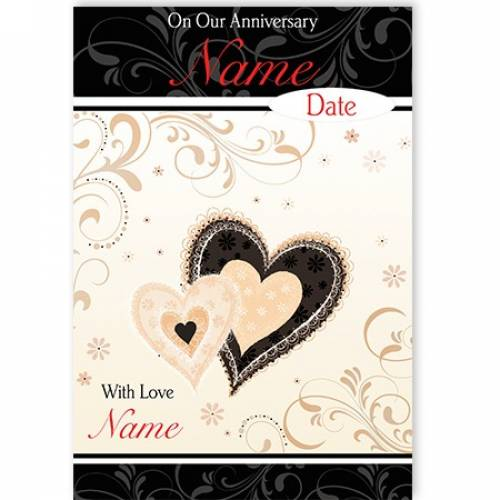 Our Anniversary Heart Card