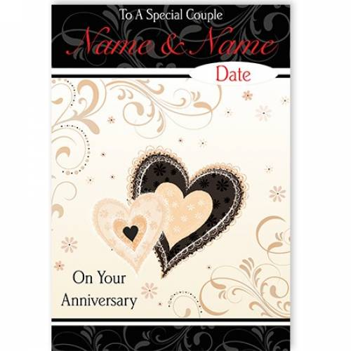 Special Couple Your Anniversary Heart Card