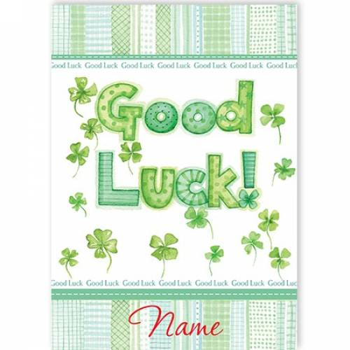 Good Luck Clover Card