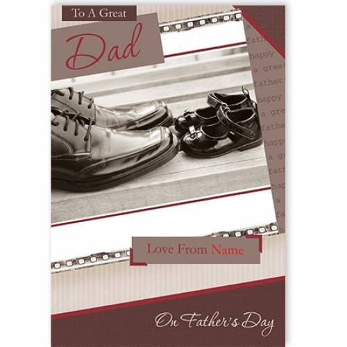 Father's Day/Dad's Shoes Daughter's Shoes Card