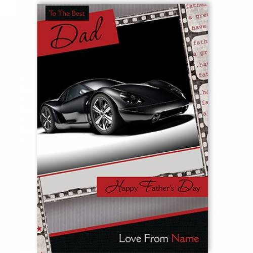 Father's Day Best Dad Fast Car Card