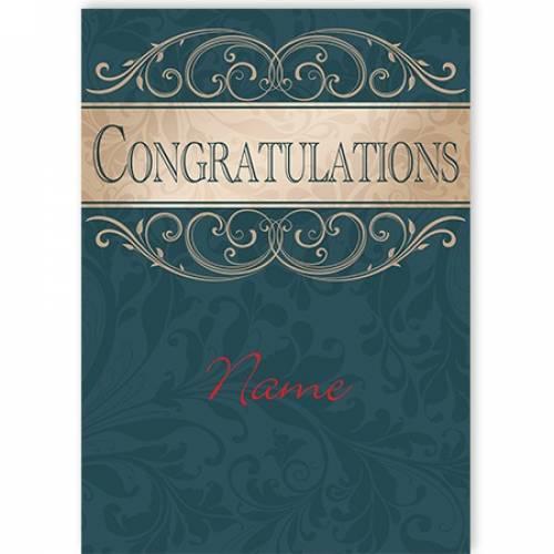 Congratulations Swirl Card