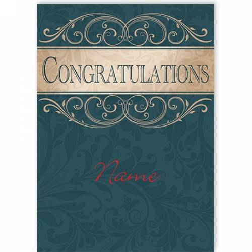 Congratulations Swirl Card