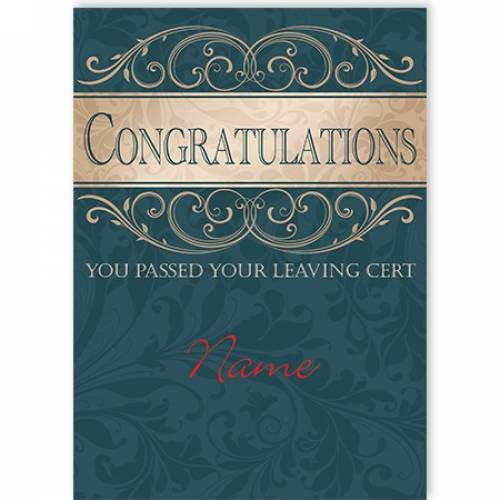 Congratulations Leaving Cert Passed Card