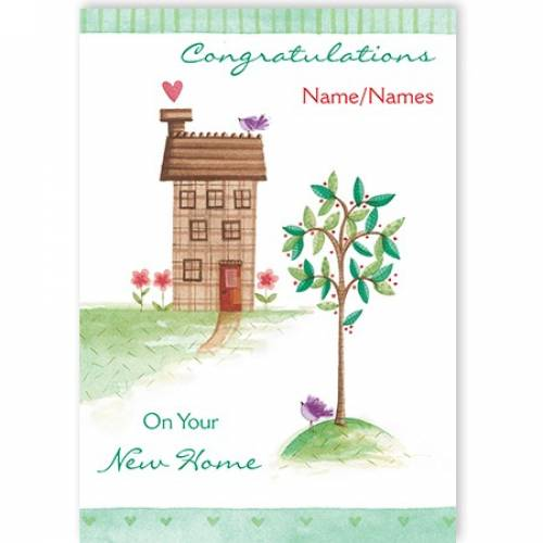 Congratulations New Home Tree Card