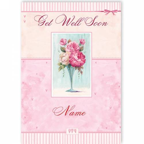 Get Well Soon Vase Flowers Card
