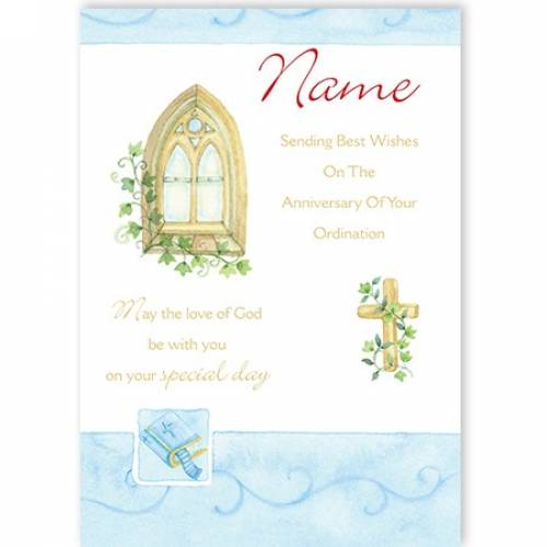 Best Wishes On Ordination Card