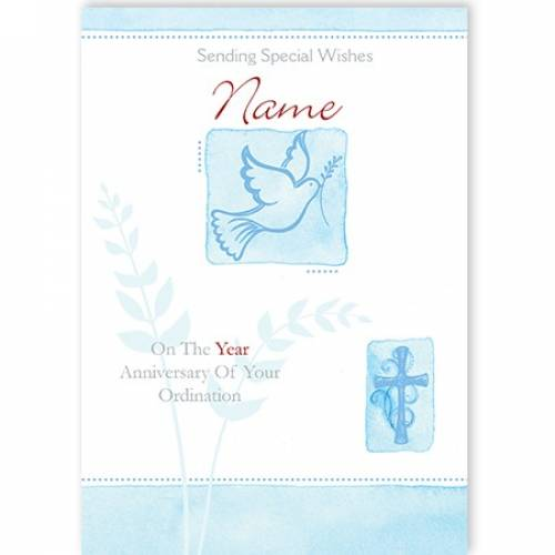 Sending Special Wishes Ordination Card