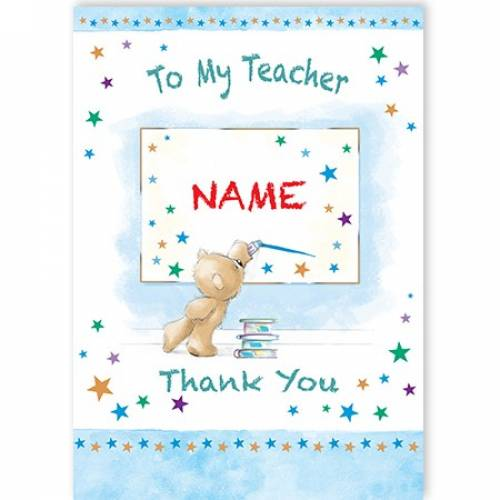 Teddy Thank You Teacher Card