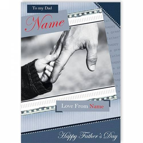 Holding Finger Happy Father's Day Card
