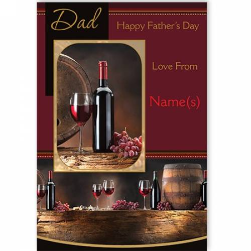 Bottle Of Wine Happy Father's Day Card