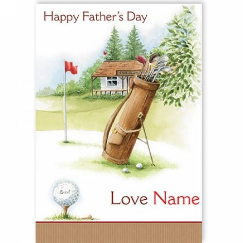 Golf Bag Happy Father's Day Card