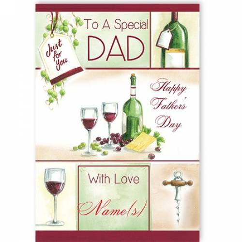 Wine Happy Father's Day Card