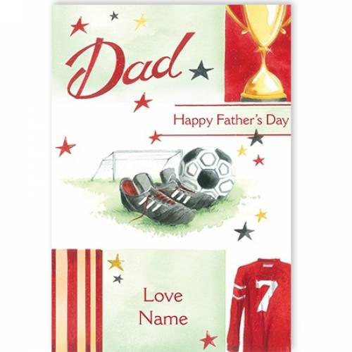 Football Happy Father's Day Card