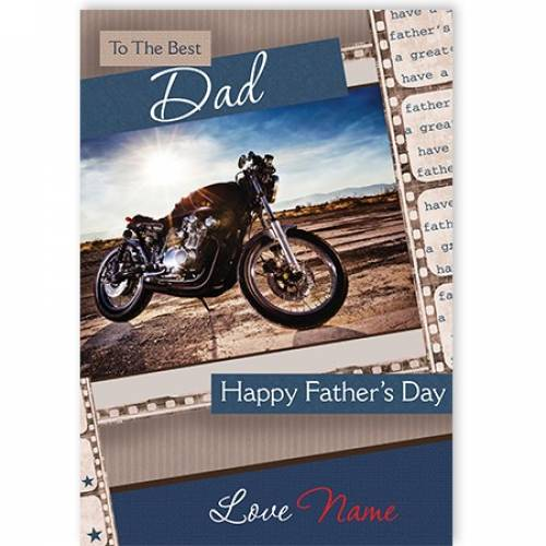 Motorbike Happy Father's Day Card