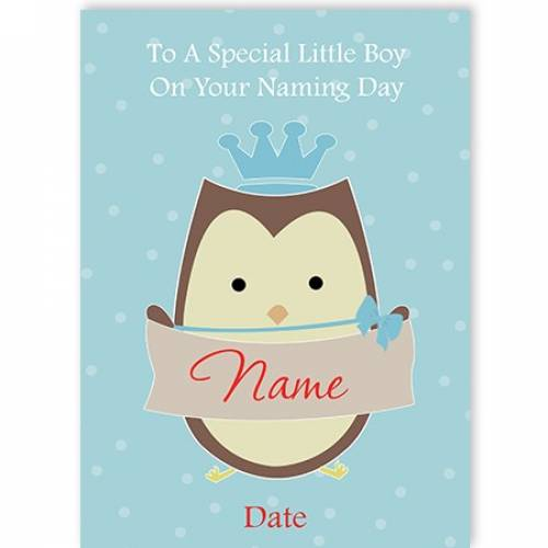 On Your Naming Day Card