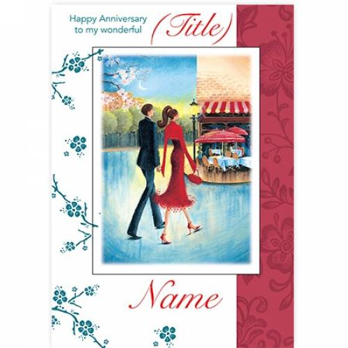 Parisian Anniversary Card