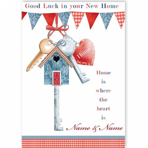 Keys And Heart New Home Card