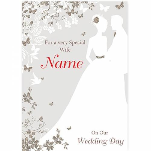 Couple Wife Wedding Day Card
