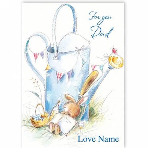 Sleeping Bunny For You Dad Card