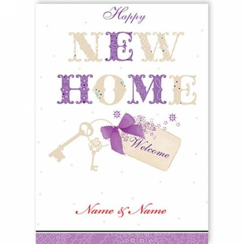 New Home Keys Card